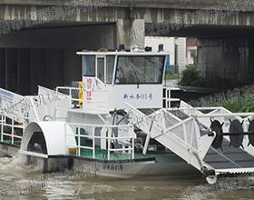 全自动中型割草船